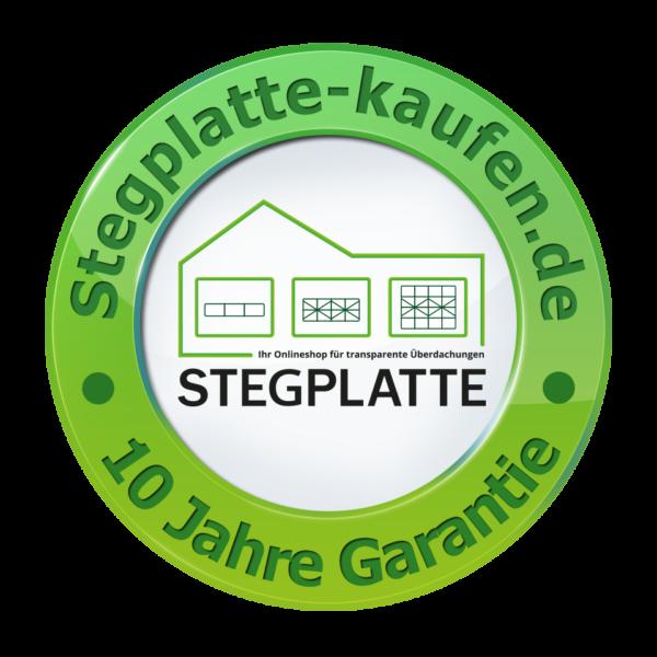 Gütesiegel 100% Garantie Hagelfestigkeit Stegplatten