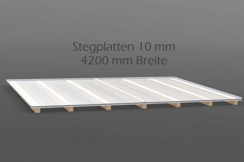 Dachhaut Stegplatten 10 mm in 4200 mm Breite