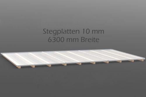 Dachhaut Stegplatten 10 mm in 6300 mm Breite