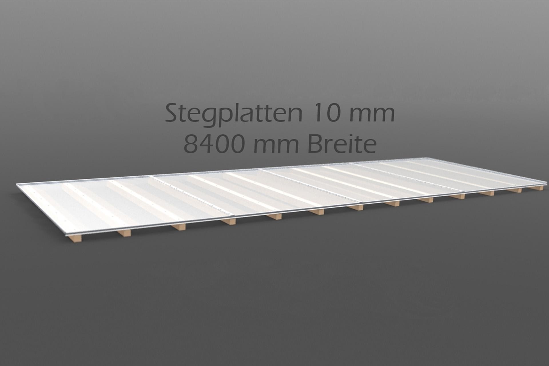 Dachhaut Stegplatten 10 mm in 8400 mm Breite