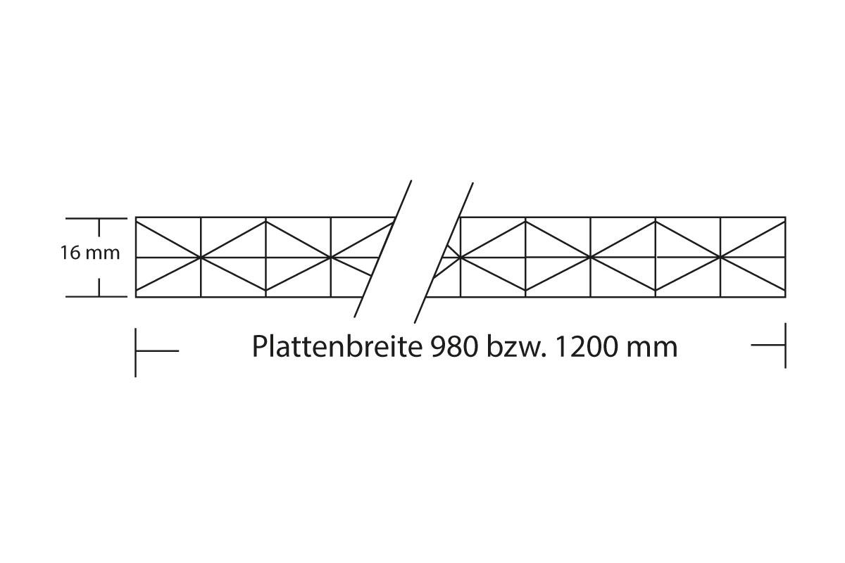 Stegplatte 16 mm Fachwerk
