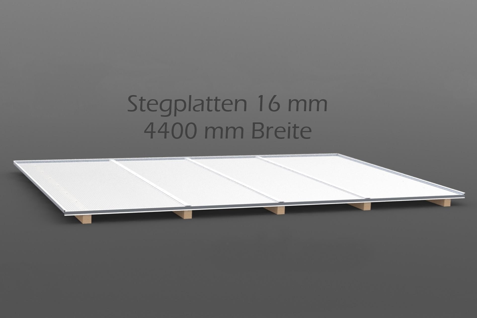 Dachhaut Stegplatten 16 mm in 4400 mm Breite