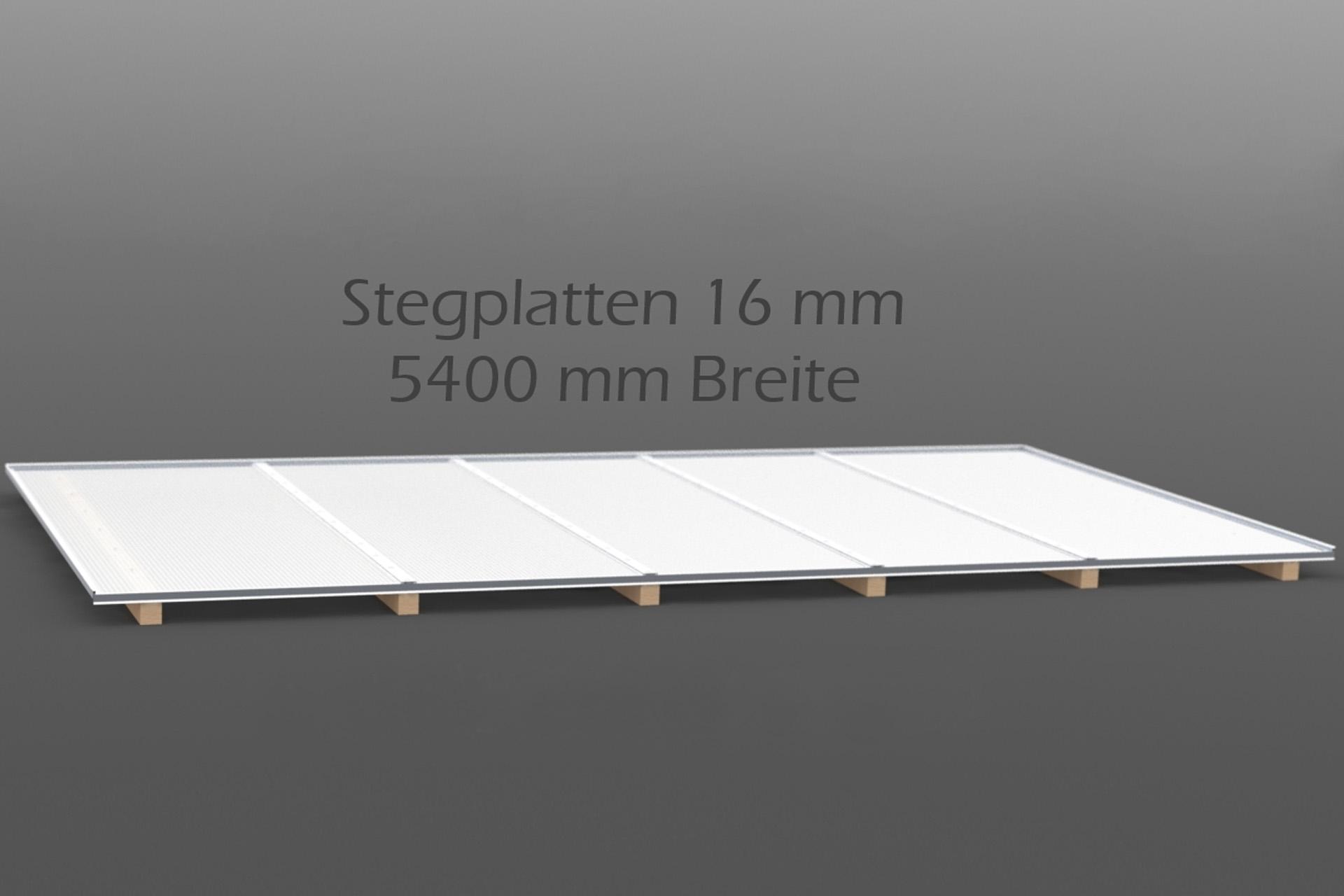 Dachhaut Stegplatten 16 mm in 5400 mm Breite