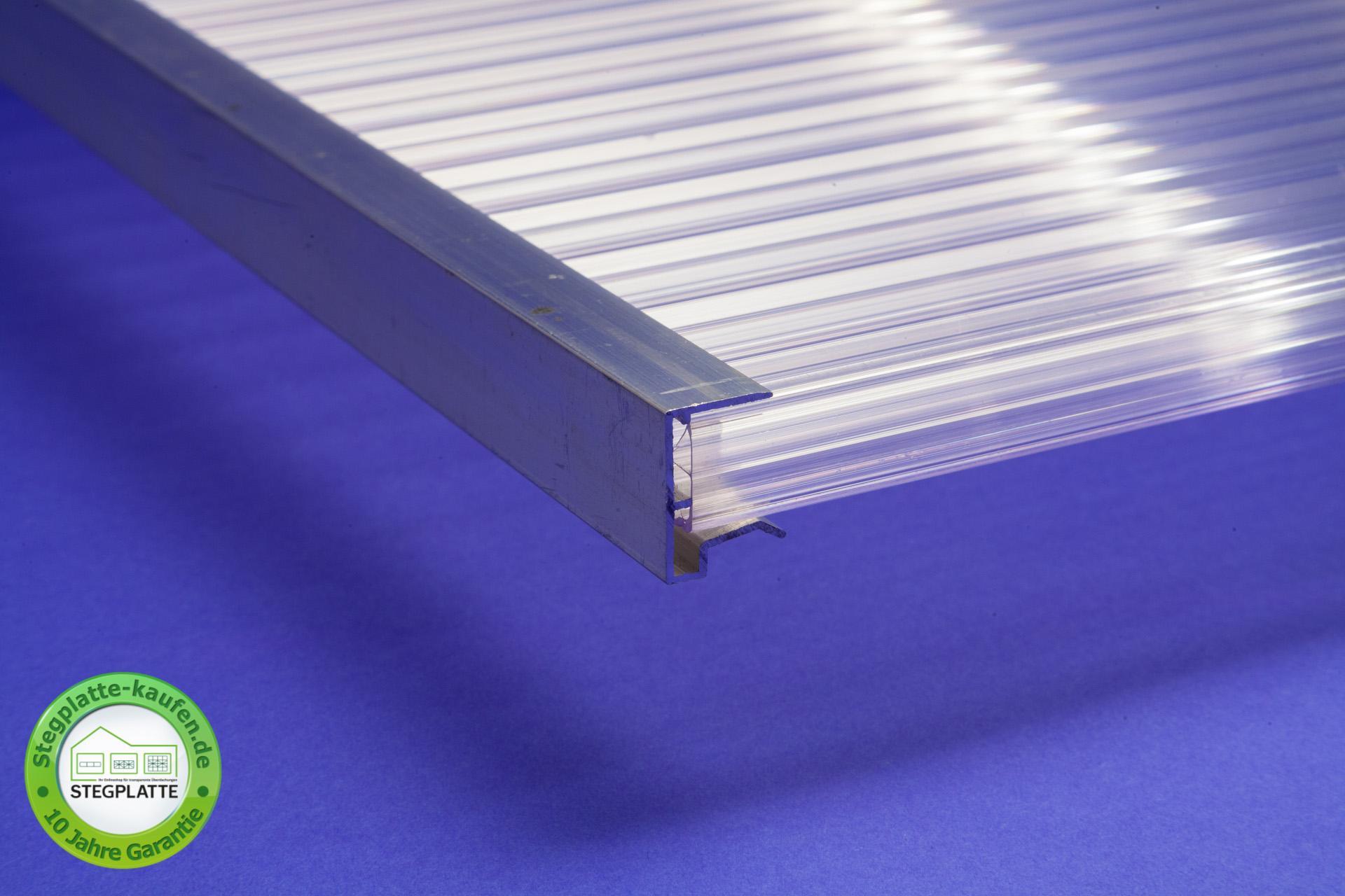 Alu Abschlussprofil kleine Tropfkante für 16 mm Stegplatten