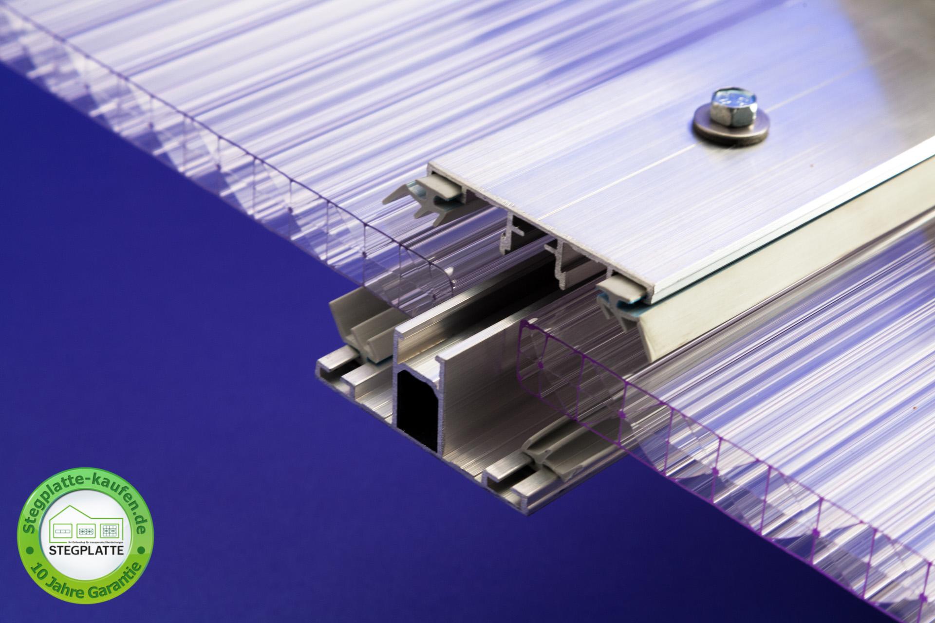 Alu-Alu Verbindungsprofil für Stegplatten 16 mm
