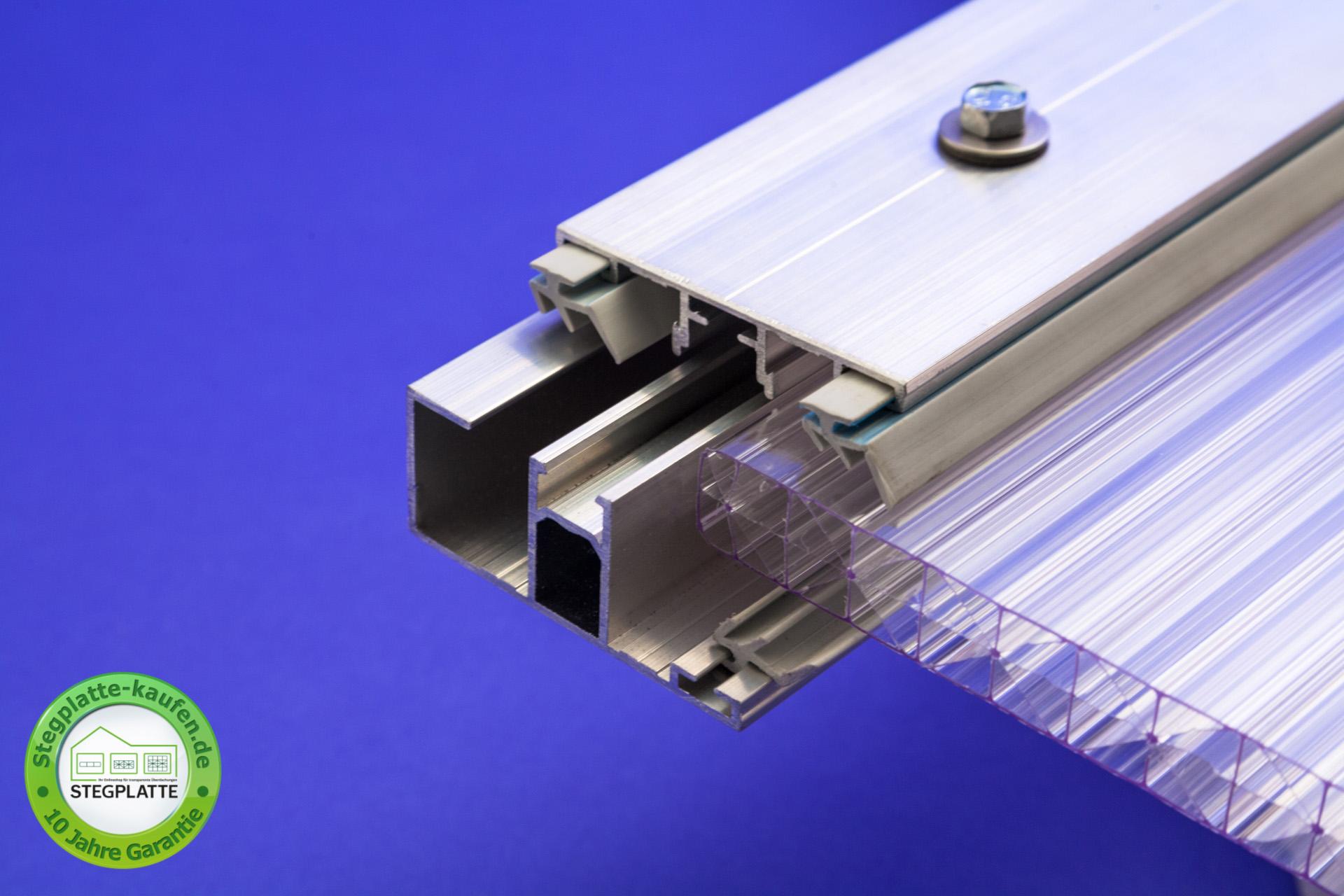 Alu Randprofil für Stegplatten 16 mm