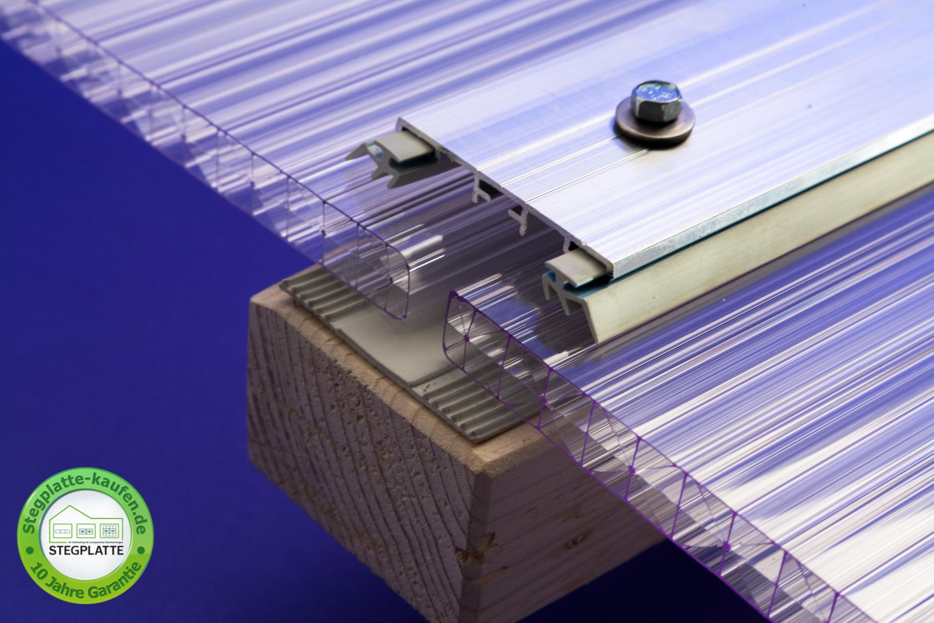 Alu Verbindungsprofil universal Deckel für Stegplatten