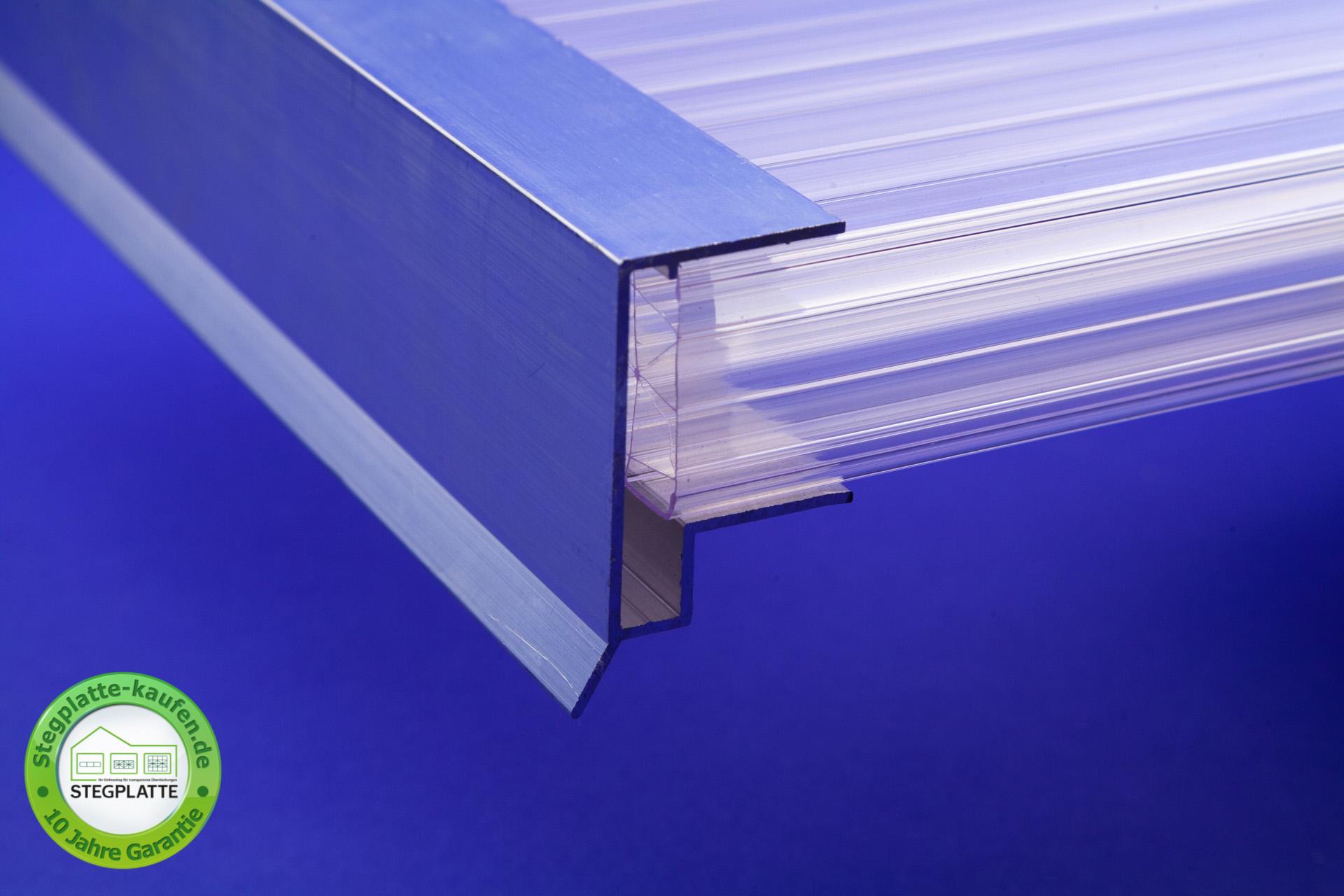 Alu Abschlussprofil große Tropfkante 32 mm