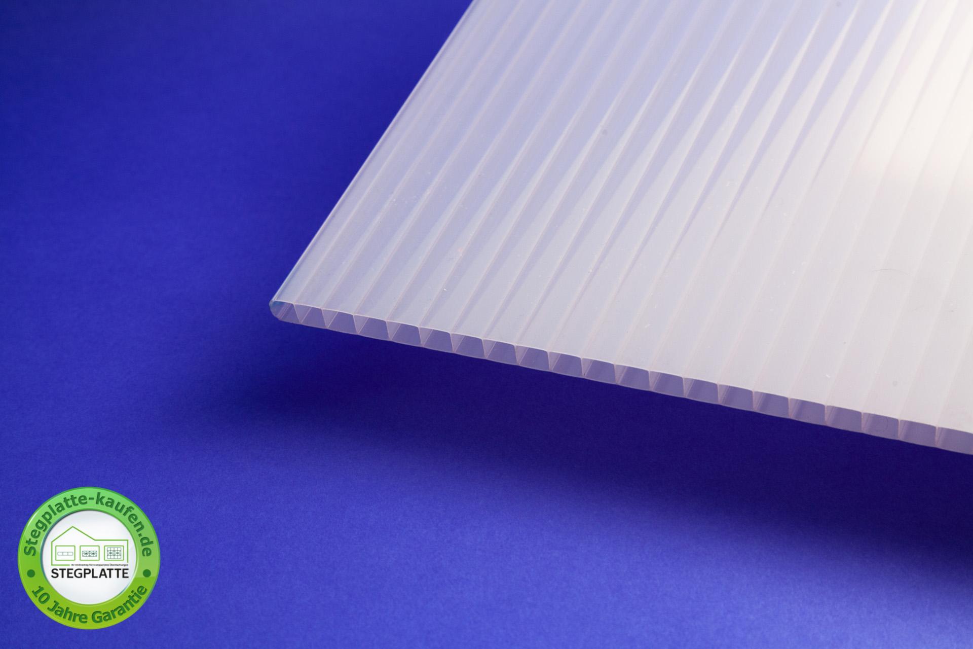 Stegplatte 10 mm opalweiß