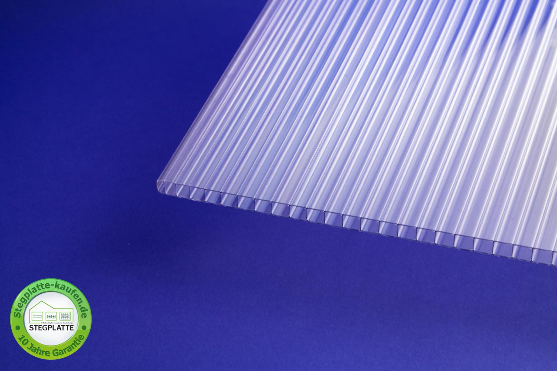 Stegplatte 6 mm Polycarbonat klar Produktbild