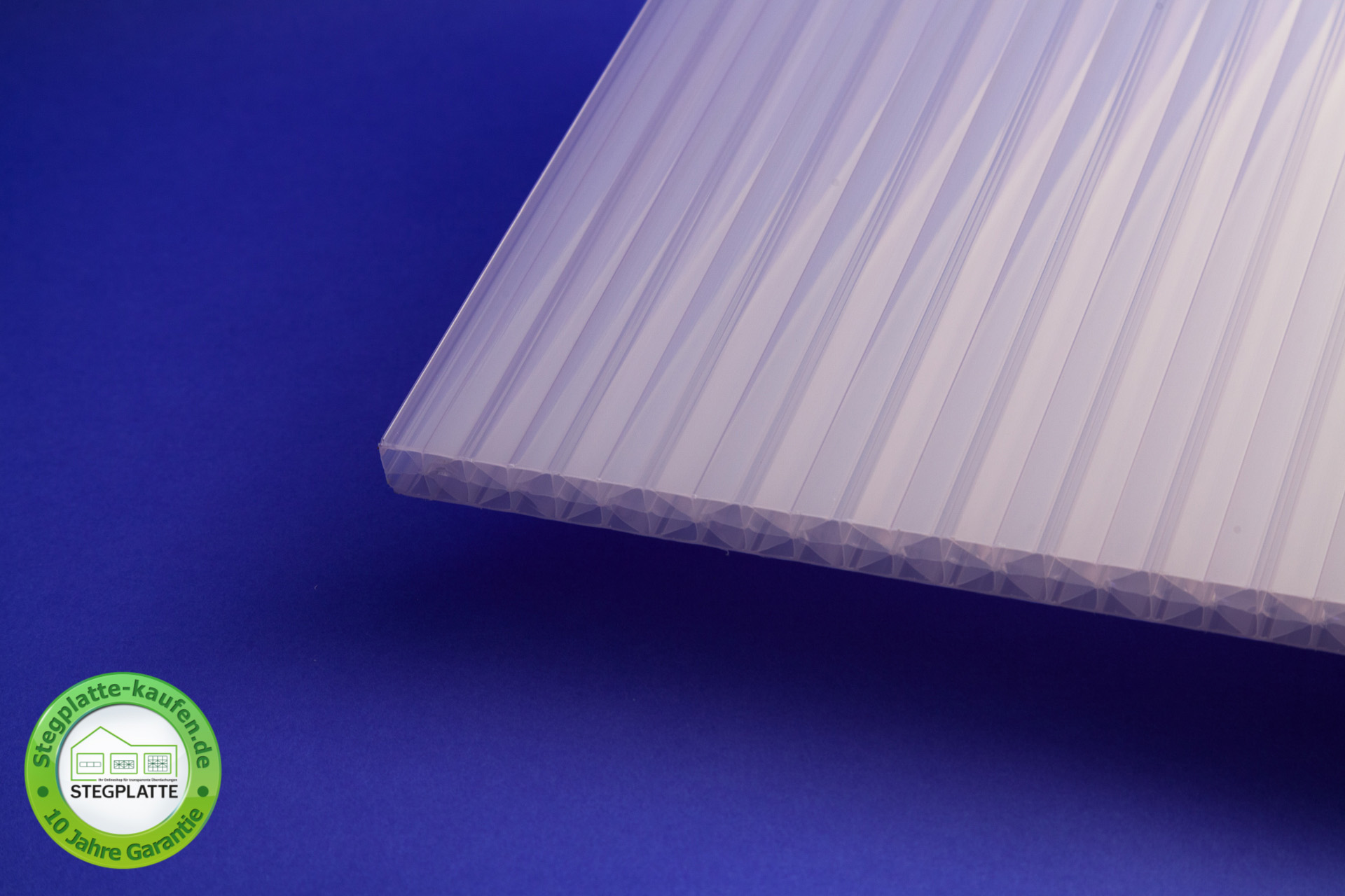 Stegplatte 16 mm Fachwerk opalweiß