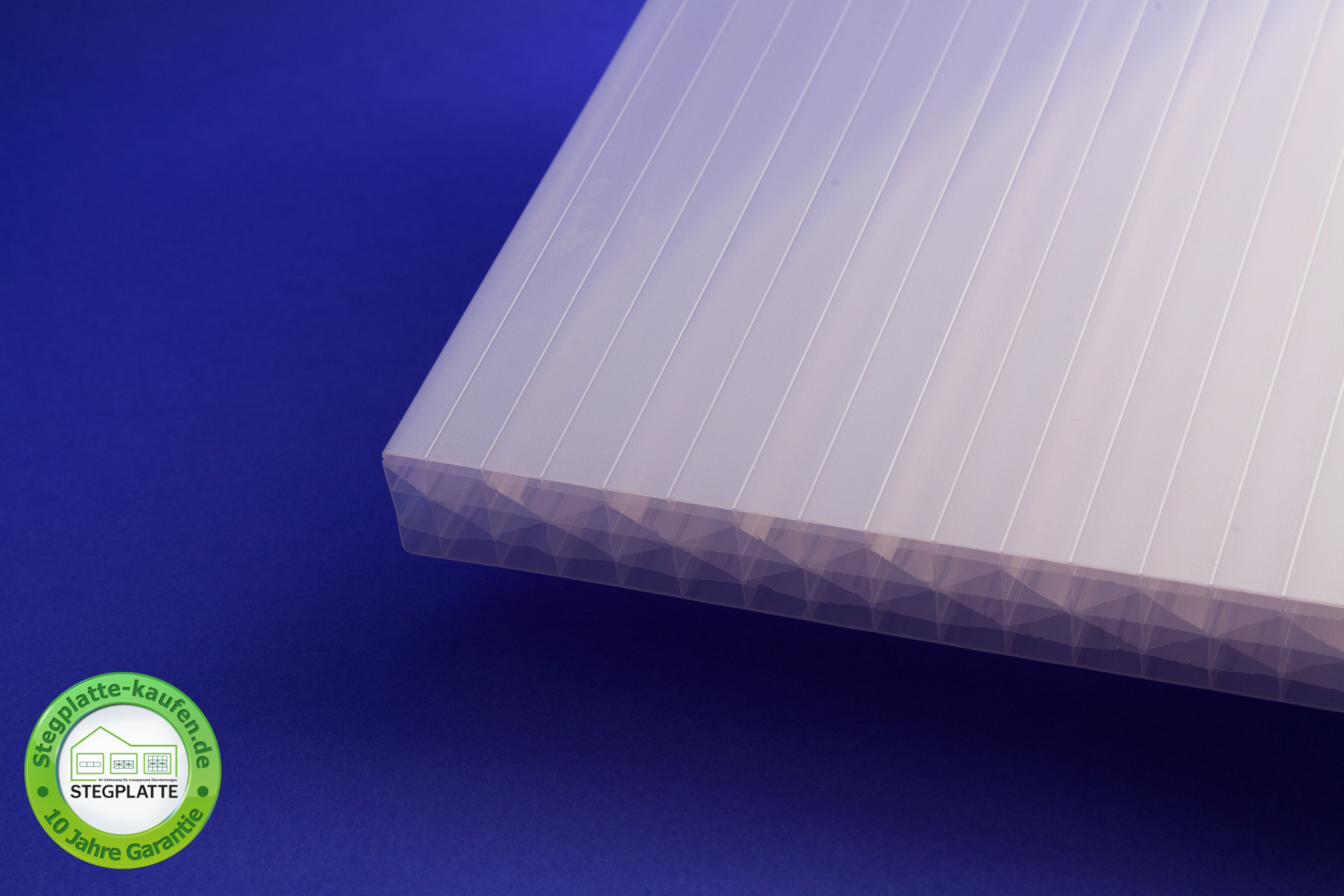 Stegplatte 32 mm opalweiß Reflekto
