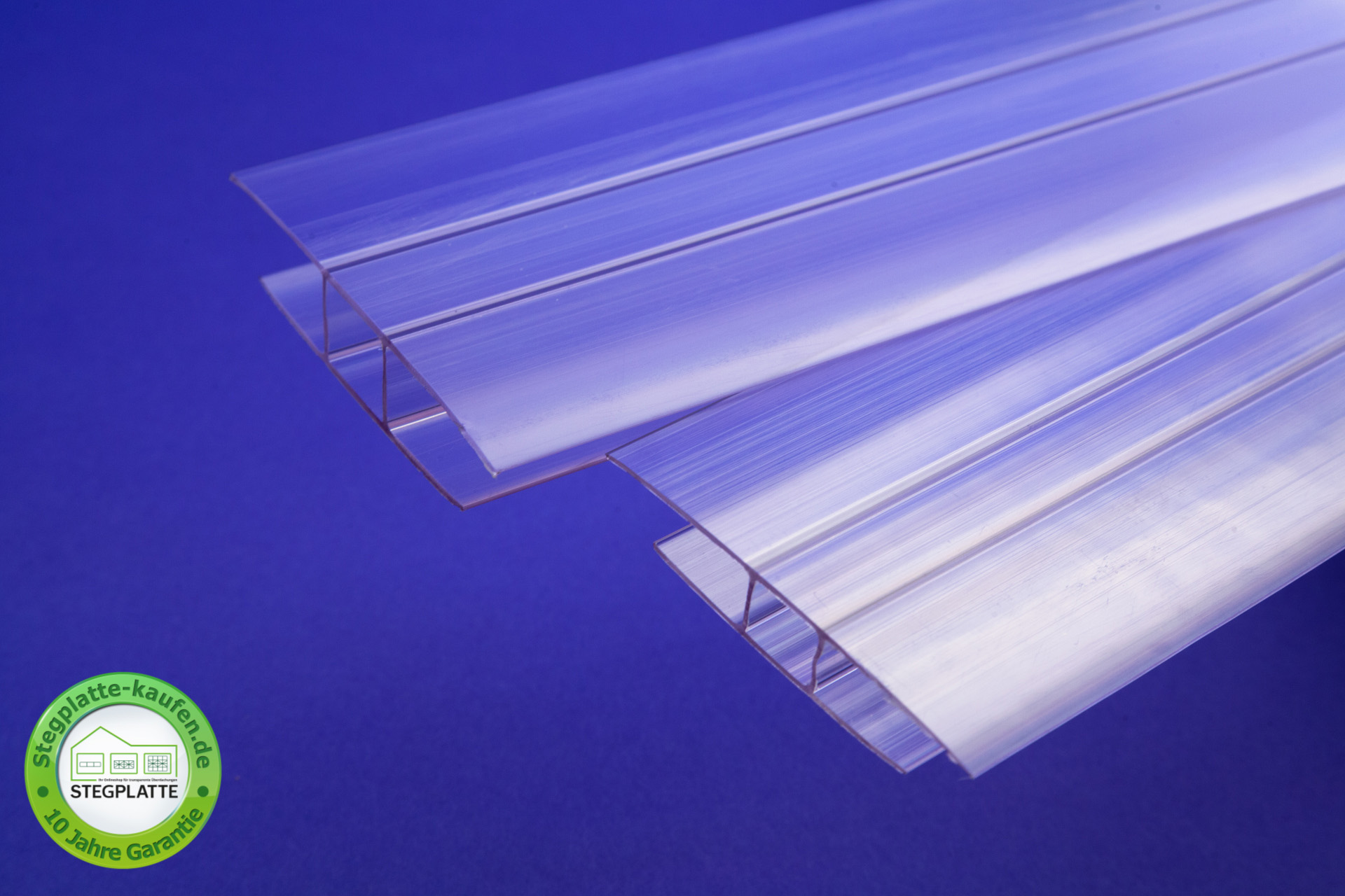 Polycarbonat H Verbindungsprofil transparent