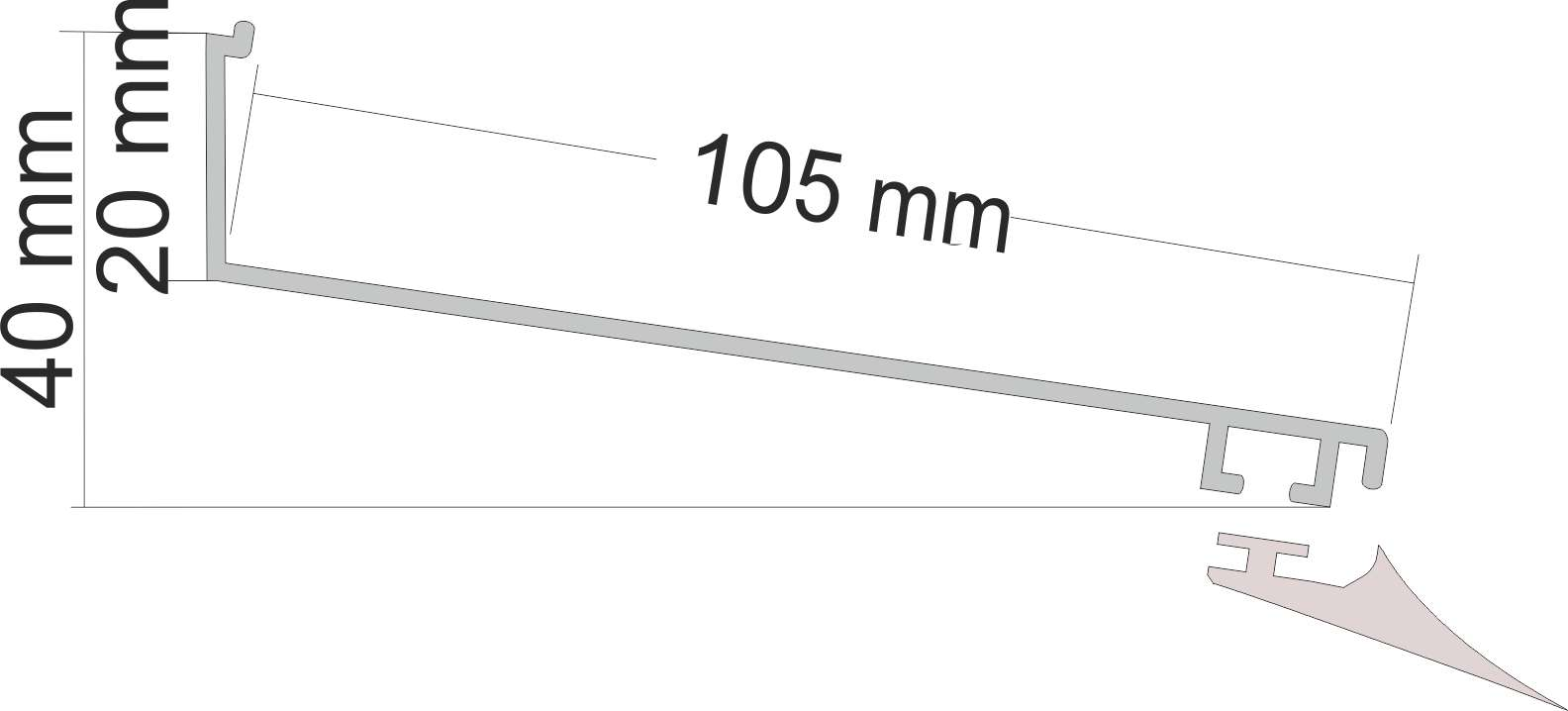 Wandanschlussprofil Aluminium