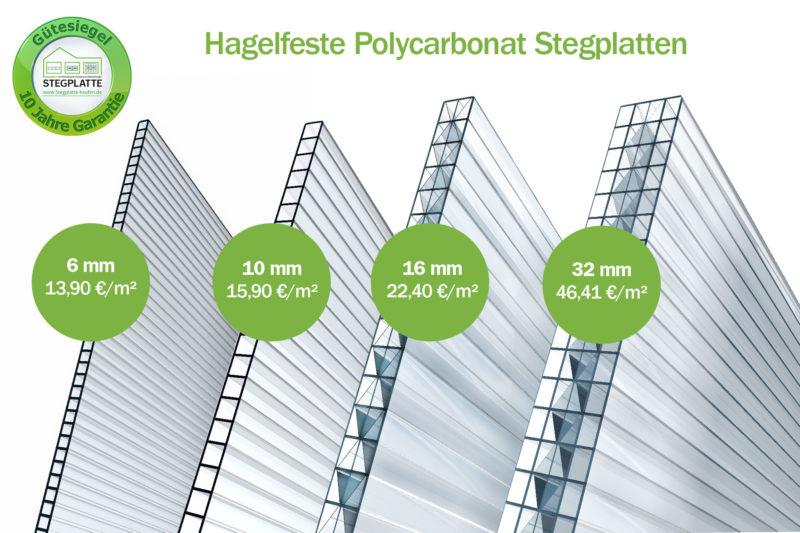 Preis Vergleich Polycarbonat Stegplatten
